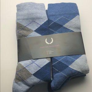 6-Pack Easton Marlowe Blue Indigo Argyle Socks